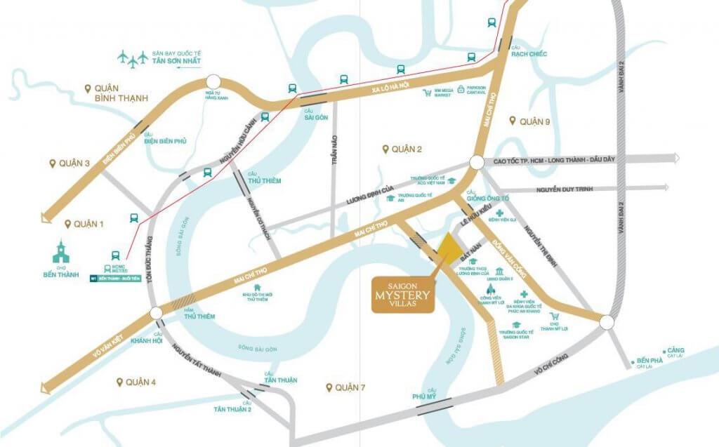 Vị trí Saigon Mystery Villas